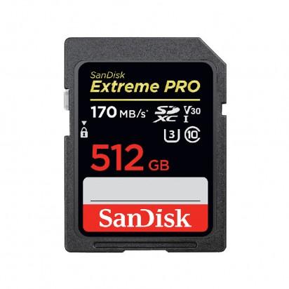 Карта памяти SD 512Gb SanDisk Extreme PRO UHS-II 170Mb/s