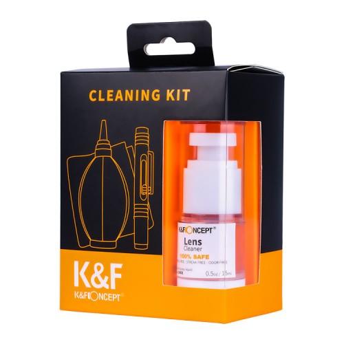 Набор 4в1 для чистки оптики K&F 1618
