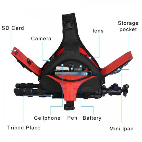 Сумка слинг Caden K1 черная