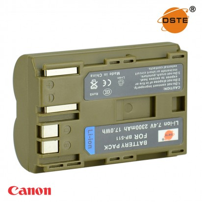 Аккумулятор DSTE BP-511 Canon 300D 10D 20D 30D 40D