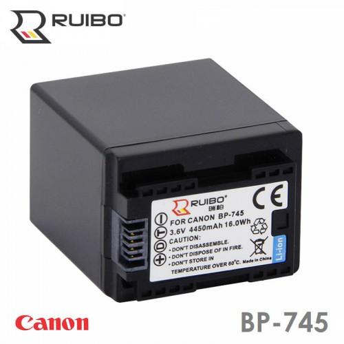 Аккумулятор RUIBO BP-745 BP-709 BP-718 BP-727 Canon