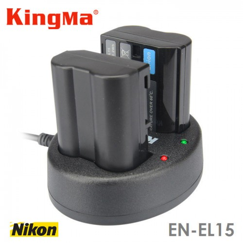 Зарядка KingMa EN-EL15 Nikon двухканальная