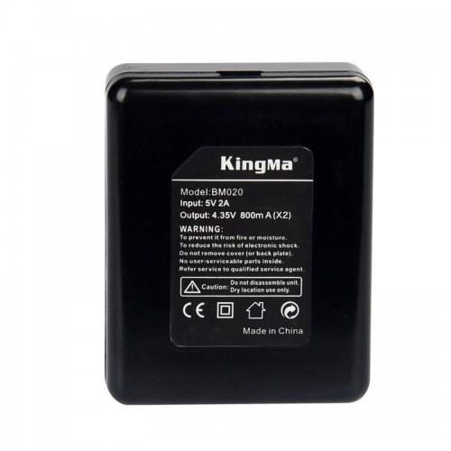 Зарядка KingMa BM-020 GoPro Hero 4 двухканальная