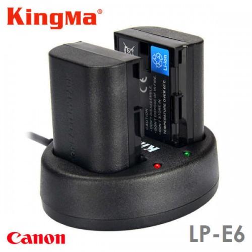 Зарядка KingMa LP-E6 Canon двухканальная
