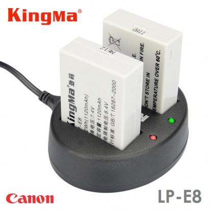 Зарядка KingMa LP-E8 Canon двухканальная