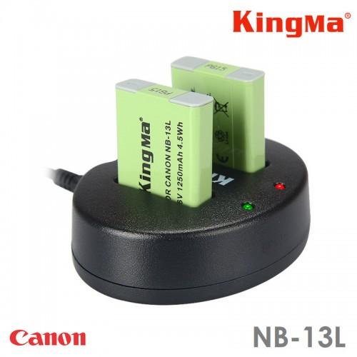 Зарядка Kingma NB-13L Canon двухканальная