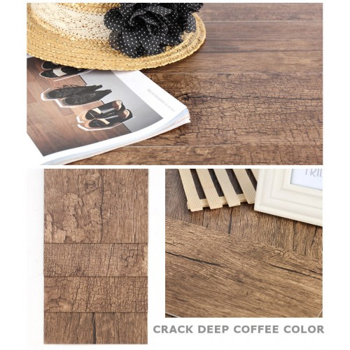 Фон под дерево Crack Deep Coffee #4 15x90 cm