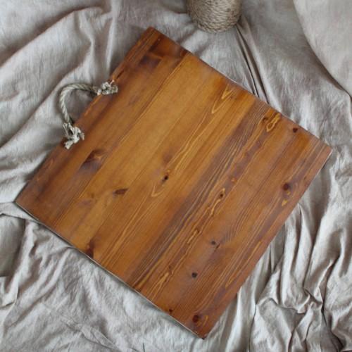 Фон деревянный 60x60 cm Охра Белый