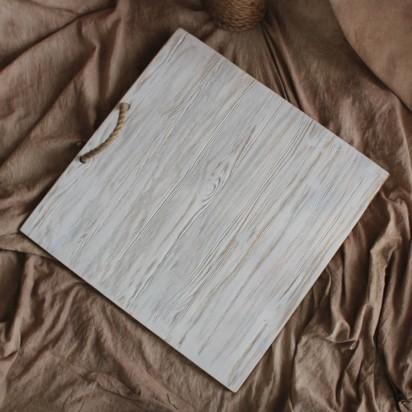 Фон деревянный 60x60 cm Белый Черный