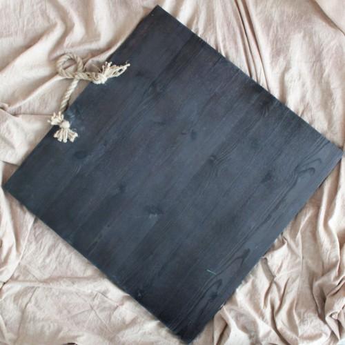 Фон деревянный 60x70 cm Белый Черный