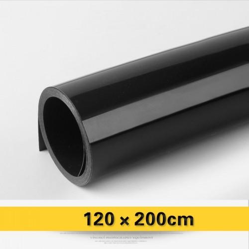 Фон виниловый черный глянцевый 120х200 см