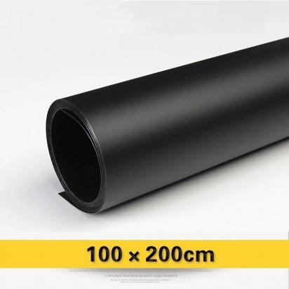Фон PVC черный матовый 100х200 см