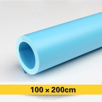 Фон виниловый голубой матовый 100х200 см