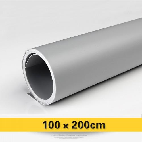 Фон виниловый серый матовый 100х200 см