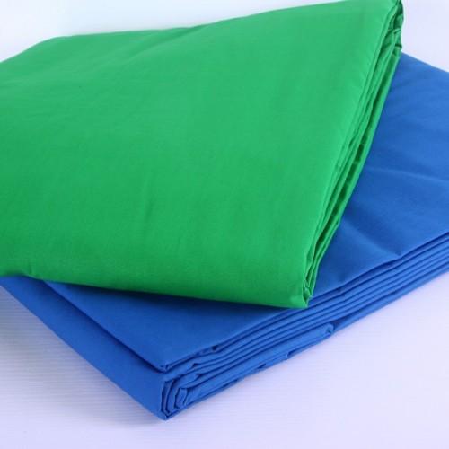 Фон тканевый зеленый хромакей 6x3 метра