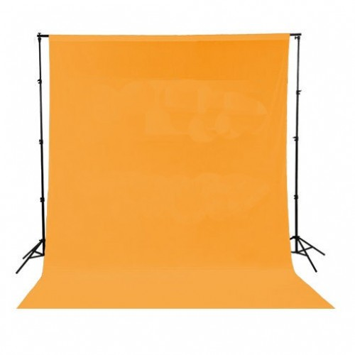 Фон тканевый оранжевый 6x3 метра