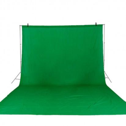 Фон тканевый зеленый хромакей 2x3 метра