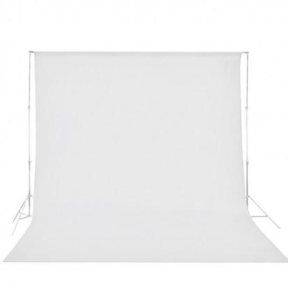 Фон тканевый белый 6x3 метра