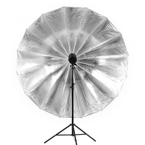 Зонт JINBEI 150 см чёрно серебристый