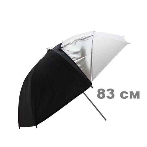 Фотозонт черно-белый 2в1 83 см