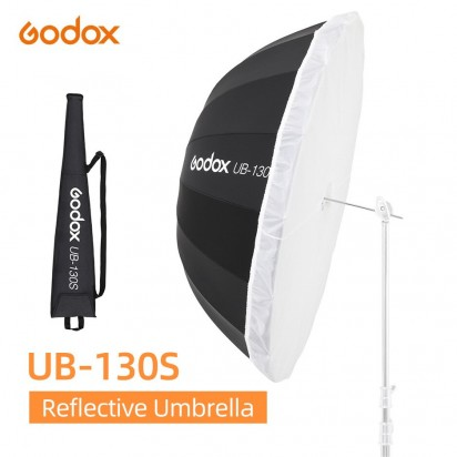 Зонт GODOX UB-130S Серебро черный с диффузором