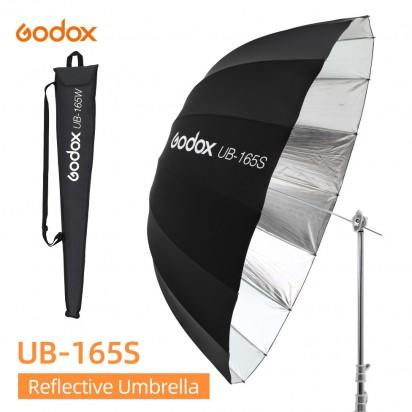 Зонт параболический GODOX UB-165S серебро черный