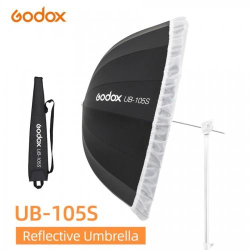 Зонт GODOX UB-105S Серебро черный с диффузором
