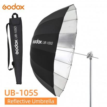 Зонт параболический GODOX UB-105S серебро черный