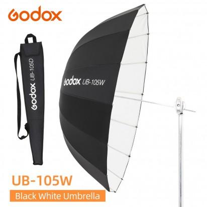 Зонт параболический GODOX UB-105W белый черный