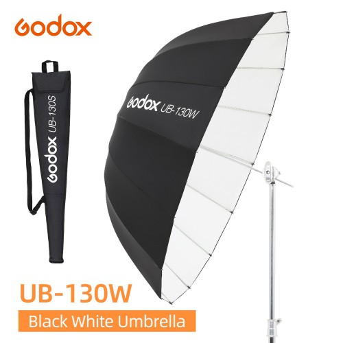 Зонт параболический Godox UB-130W белый черный