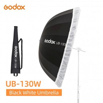 Зонт GODOX UB-130W белый черный с диффузором