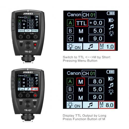 Контролер JINBEI TR-Q7 Bluetooth TTL HSS