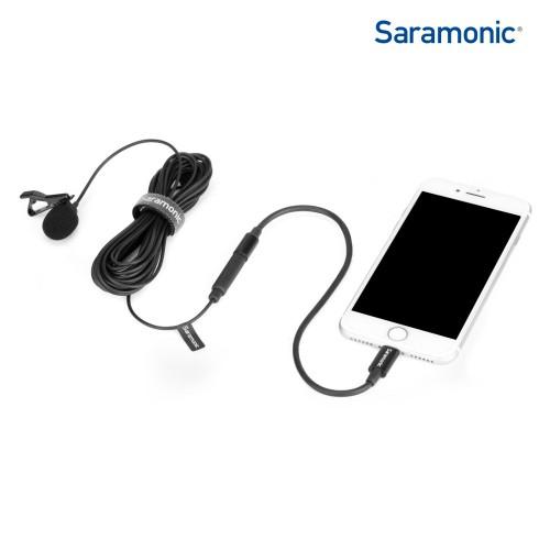 Петличный микрофон Saramonic LavMicro U1B iPhone