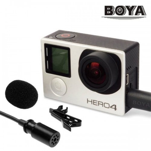 Петличный микрофон BOYA BY-GM10 для GoPro Hero