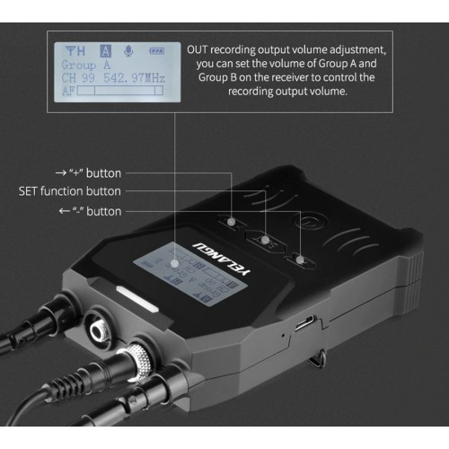 Петличный радио микрофон YELANGU MX4-K1